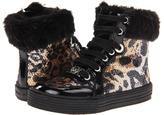 MICHAEL Michael Kors Kids - Ivy Elite (Infant/Toddler/Youth) (Black Pat/Cheetah) - Footwear