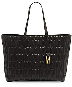 Moschino Women's Embossed Leather Tote