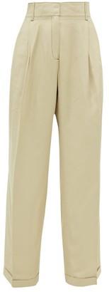 Wales Bonner Wide-leg Tailored Canvas Trousers - Womens - Beige