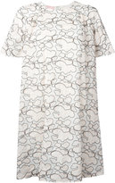 Giamba abstract embroidery T-shirt dress