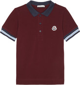 Moncler Stripe trim cotton polo shirt 4-14 years