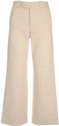 Barena High-Waisted Wide Leg Jeans