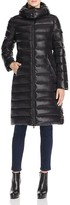 Moncler Moka Charcoal Long Down Coat