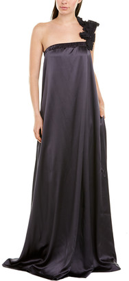 Brunello Cucinelli Silk-Blend Maxi Dress