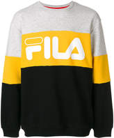 Fila logo colour block sweatshirt