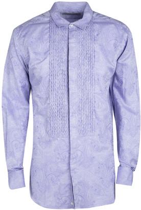 Etro Purple Cotton Paisley Motif Long Sleeve Button Front Shirt L