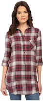 Brigitte Bailey Clare Plaid Button Tunic