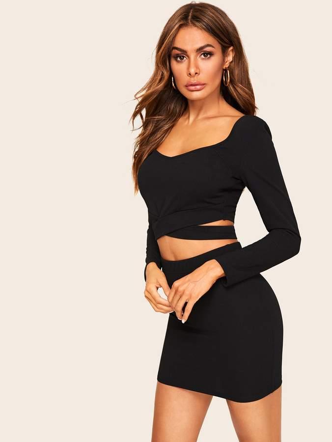 32be1b6238 Criss Cross Skirt - ShopStyle