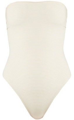Marysia Swim Adelaide Reversible Strapless Swimsuit - Womens - Cream White