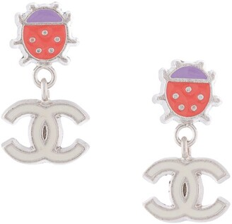 Chanel Pre Owned 2004 Ladybug CC charm earrings