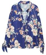 Violeta BY MANGO Floral bows blouse