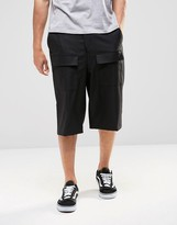 Asos Smart Shorts In Black With Patch Pockets