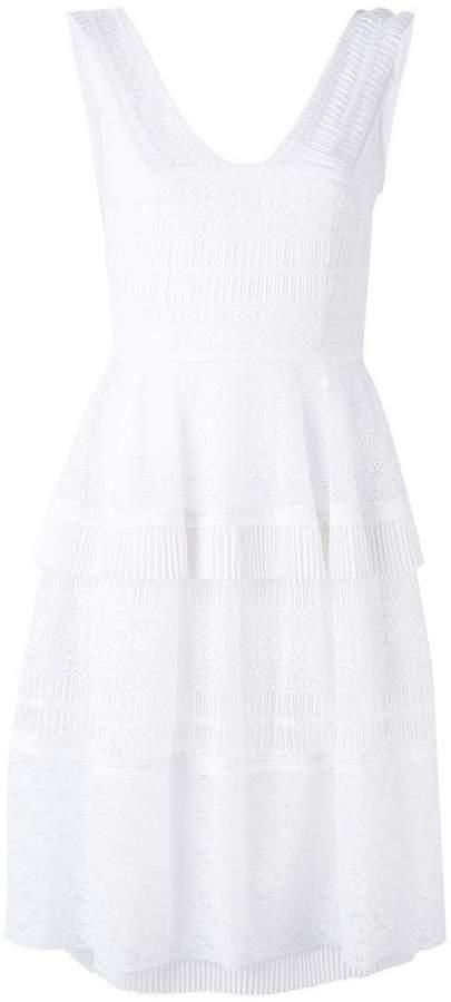 Talbot Runhof tiered pleated dress