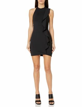 Susana Monaco Women's Ruffle Seam Halter Dress