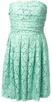 Moschino Cheap & Chic lace strapless dress - women - Cotton/Polyamide - 42