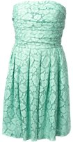 Moschino Cheap & Chic lace strapless dress