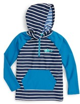 Hatley Boy's Toothy Shark Hooded Rashguard