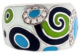 Roberto Coin Enamel Diamond Ring