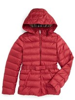 Burberry 'Janie' Hooded Down Jacket (Little Girls & Big Girls)