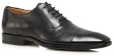 Jeff Banks Designer Black Leather Toe Cap Shoes
