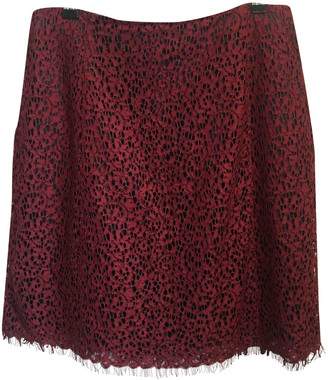 Carven Burgundy Cotton Skirts