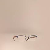 Burberry Half-rimmed Rectangular Optical Frames