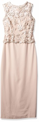 Tahari by Arthur S. Levine Women's Sleeveless Gown with Metallic Detail