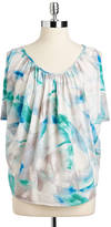 Calvin Klein Jeans Printed Draped-Front Sleeveless Top