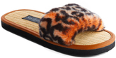 Orange Baby Leopard Print Tatami Slipper