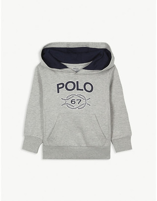 Ralph Lauren 67 Logo-Print Stretch-Cotton Hoody 2-14 Years