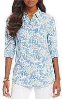 Tommy Bahama Mar-a-Sketch Long Sleeve Pocket Shirt