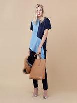 Diane von Furstenberg Paneled Silk Shirt