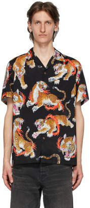 Wacko Maria Black and Multicolor Tim Lehi Edition Hawaiian Shirt