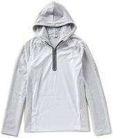 Calvin Klein Logo Texture Color Block Quarter-Zip Pullover
