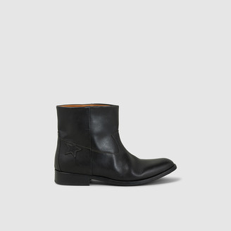 Golden Goose Black King Leather Ankle Boots IT 35