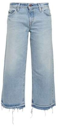 Simon Miller Cropped Faded Mid-rise Straight-leg Jeans