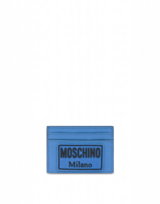 Moschino Label Cards Holder Man Blue Size U It - (one Size Us)