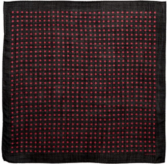 Saint Laurent Star Print Wool Scarf