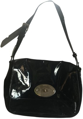 Mulberry Navy Patent leather Handbags