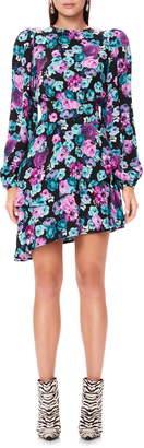AFRM Parker Ruffle Back Cutout Long Sleeve Dress