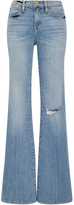 Frame Le High Flared Jeans with Distressed Knee