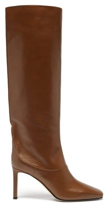 Jimmy Choo Mahesa 85 Knee-high Leather Boots - Tan