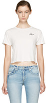 Amo White Cropped babe T-shirt