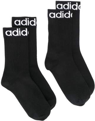 adidas Set Of Two Logo Ankle Socks