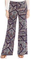 I.N. Studio Pull-On Patch Print Pants