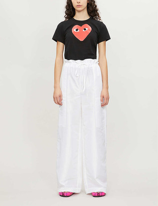 Comme des Garcons Middle heart-print cotton-jersey T-shirt
