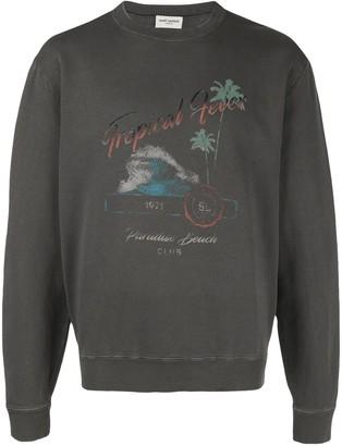Saint Laurent Tropical Fever print sweatshirt