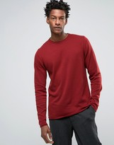 Troy Roll Edge Sweater With Crew Neck
