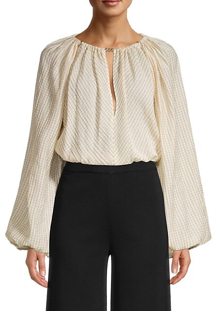 Thumbnail for your product : Significant Other Florence Keyhole Blouson-Sleeve Top