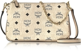 MCM Millie Visetos Medium Zip Crossbody Bag